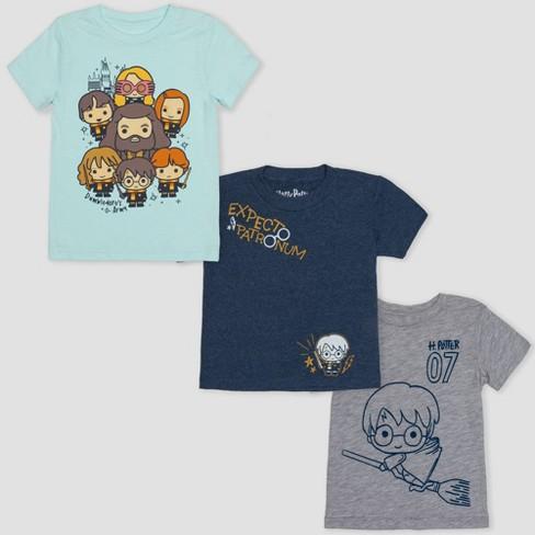 9ae56ad61276 Toddler Boys  3pk Harry Potter Short Sleeve T-Shirts - Aqua Gray Navy