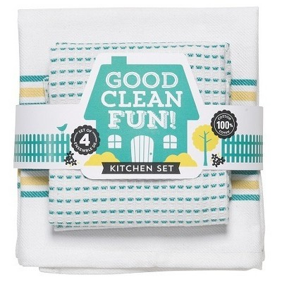 2pk White Kitchen Towel (18 x28 )- Now Designs