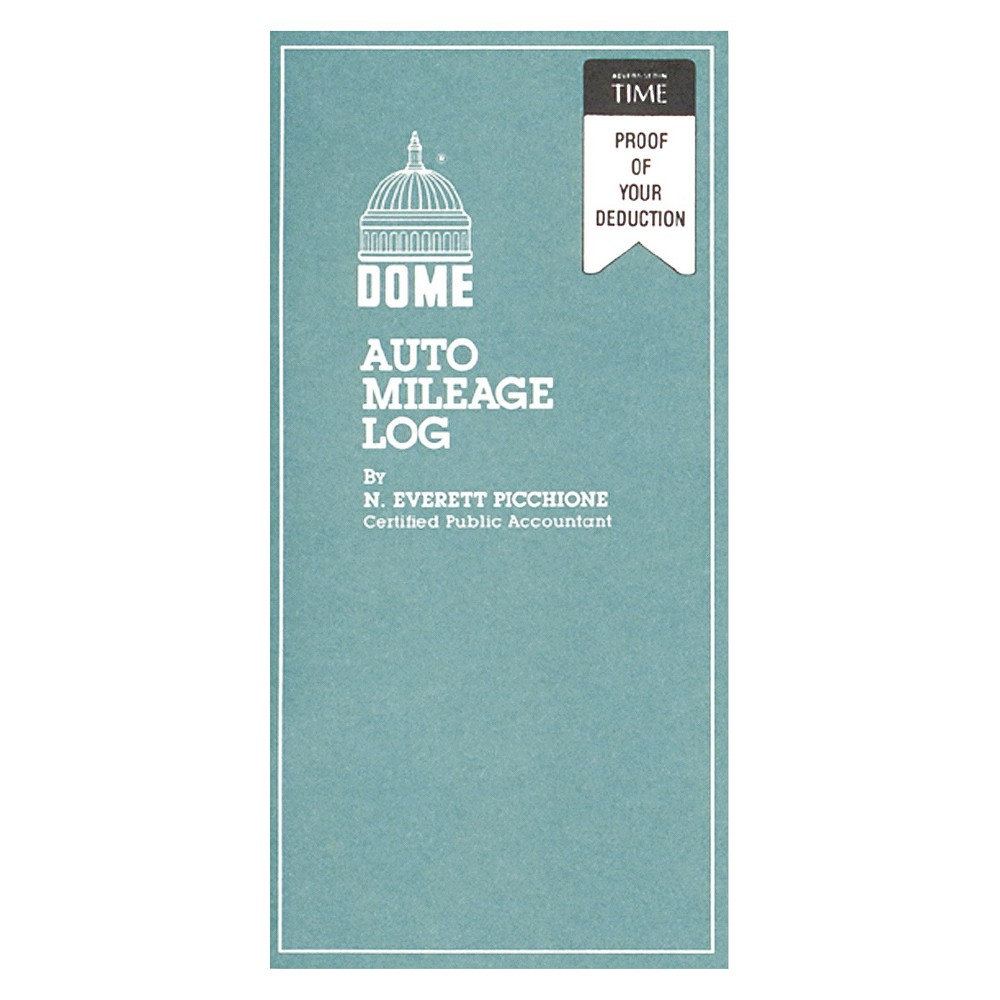 Dome Publishing Auto Mileage Log, Undated, 3 1/4 x 6 1/4,...