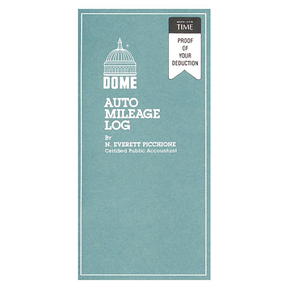 Dome Auto Mileage Log, Undated, 3 1/4 x 6 1/4, 32 Forms, White/Grey
