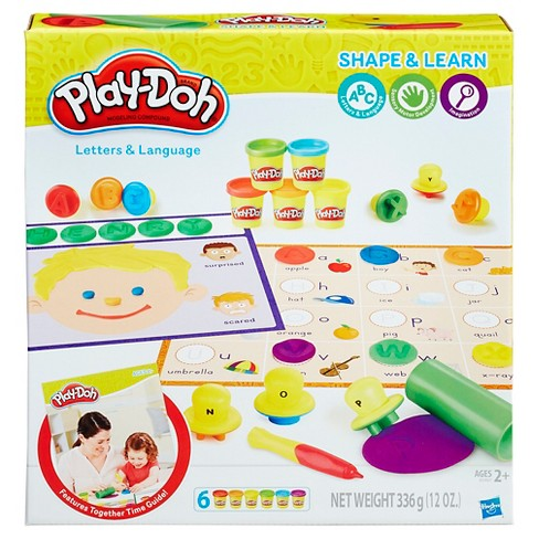 play doh shape and learn letters and language target