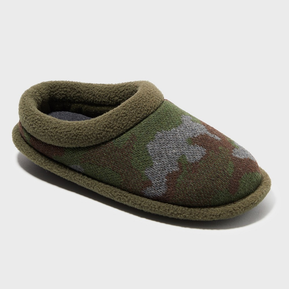 Boys' Dearfoams Slide Slippers - Green 9-10