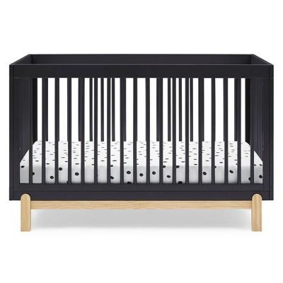Delta Children Poppy 4-in-1 Convertible Crib - Midnight Gray/Natural