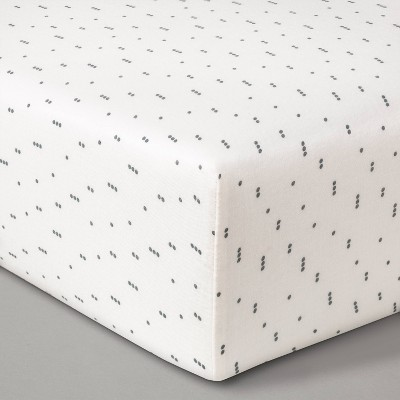Fitted Crib Sheet Muslin Dots - Cloud Island™ Tan