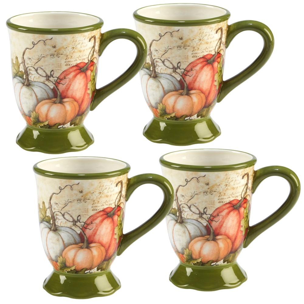 Image of 18oz 4pk Autumn Fields Ceramic Mugs - Certified International
