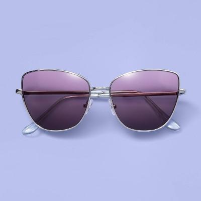 Kids' Colored Lens Metal Sunglasses - More Than Magic™ Silver