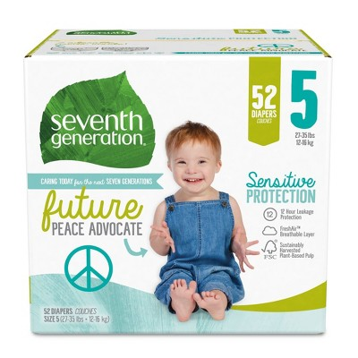 Seventh Generation Sensitive Protection Diapers Super Pack - Size 5 - 52ct