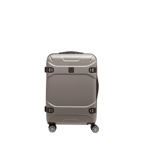 "FUL 25"" Molded Hardside Spinner Suitcase - Silver - image 1 of 4"