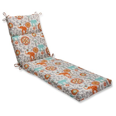 Pillow Perfect Outdoor One Piece Seat And Back Cushion - Gray