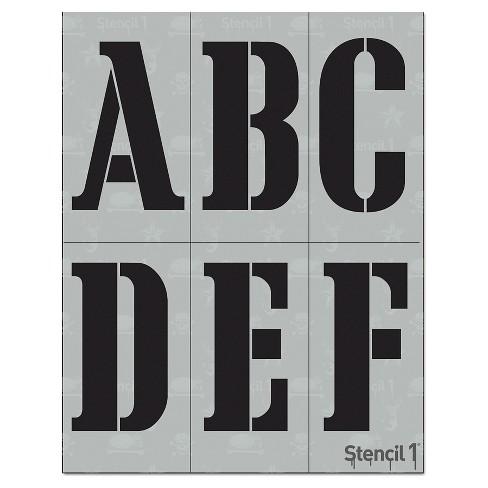 """Stencil1 Corsiva Font 4"""" - Letter Stencil 8.5"""" x 11"""" - image 1 of 3"""