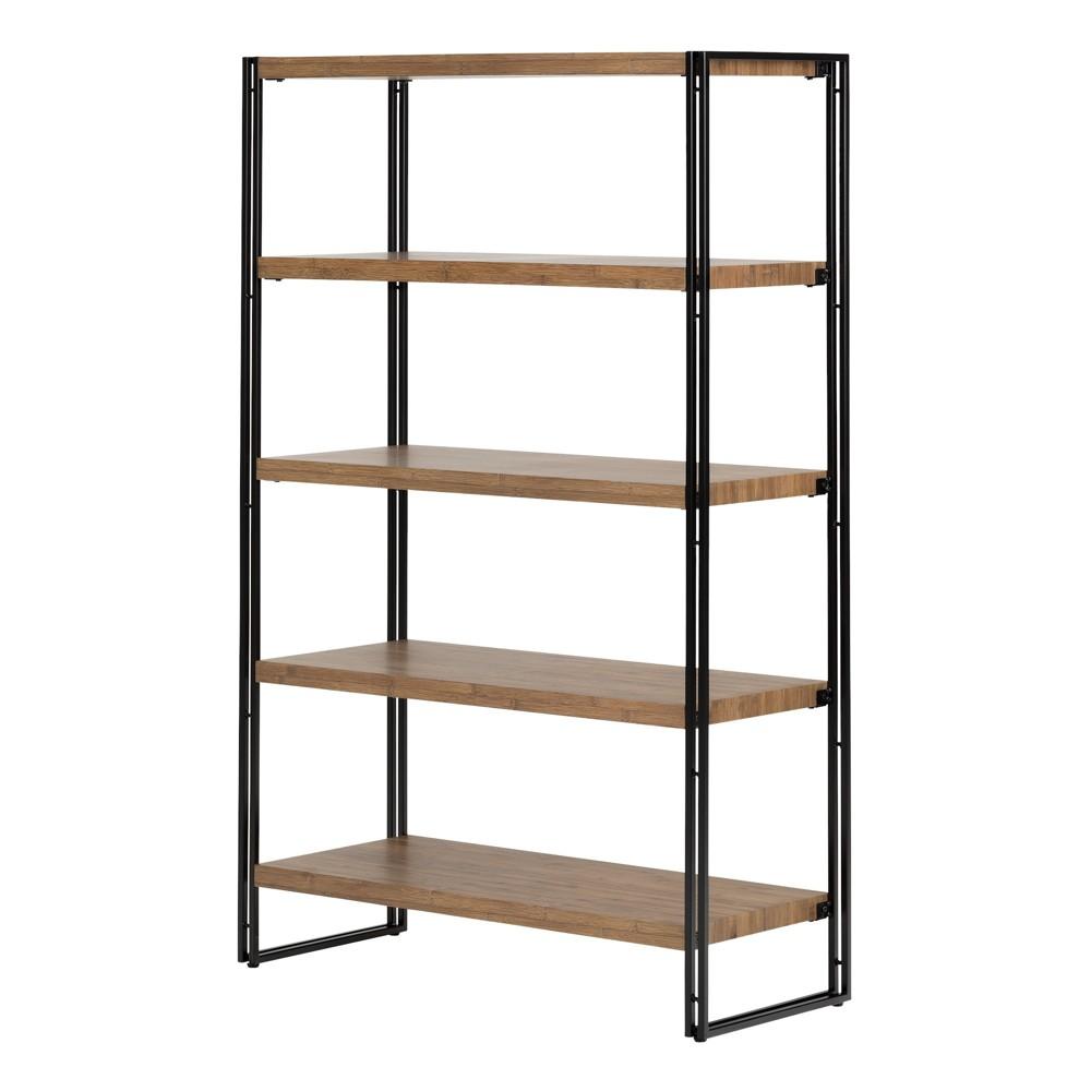 61 Gimetri 5 Fixed Shelves Shelving Unit Rustic Bamboo - South Shore
