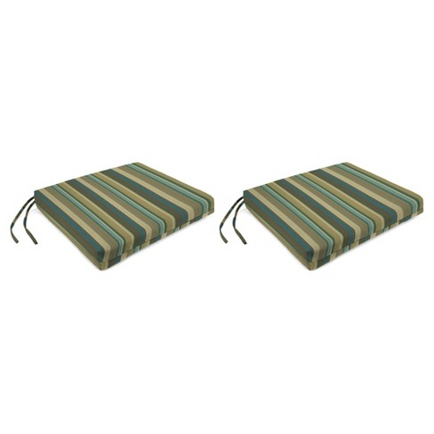 Outdoor Set Of 2 French Edge Seat Cushions In Draw The Line Spa  - Jordan Manufacturing - image 1 of 1