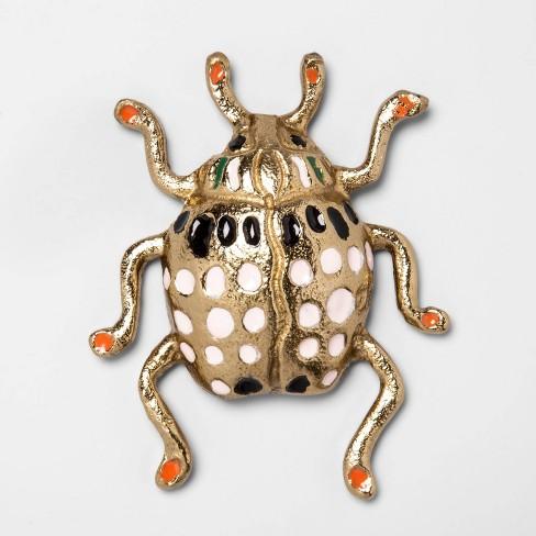 "4.5""x3.7"" Enamel Bug Wall Sculpture Light Gold  - Opalhouse™ - image 1 of 2"
