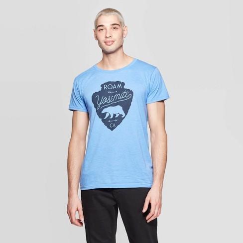 5ed6a1261 Men's Short Sleeve Crewneck Nor Cal Roam Yosemite Graphic T-Shirt - Awake  Blue