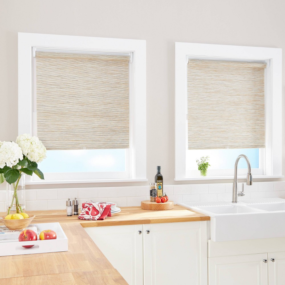 "Image of ""23""""x64"""" Light Filtering Window Shade Panel Natural - CHF Industries"""