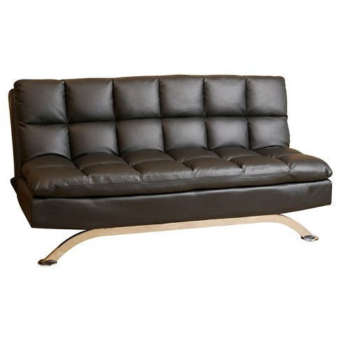 Reedley Leather Euro Lounger Sofa Black - Abbyson Living - image 1 of 4
