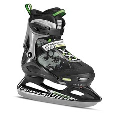 Bladerunner Micro Ice Boys Youth Adjustable Skates, Medium, Black and Green