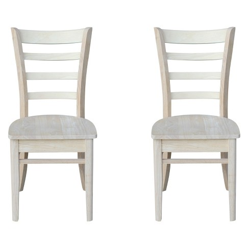 Set Of 2 Emily Side Chair Unfinished - International Concepts - image 1 of 4