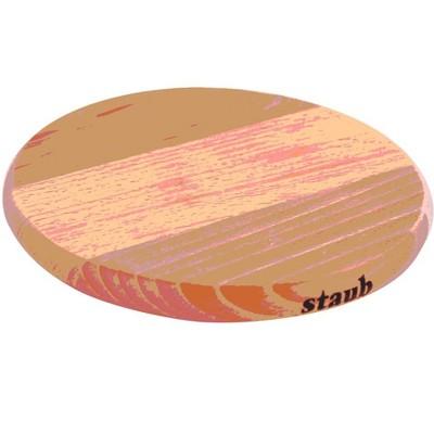 Staub Round Magnetic Wood Trivet