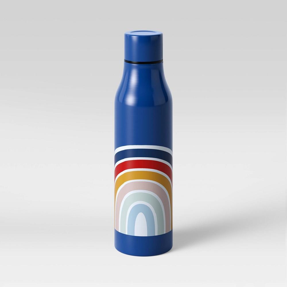 20oz Stainless Steel Vacuum Water Bottle Navy Rainbow - Room Essentials