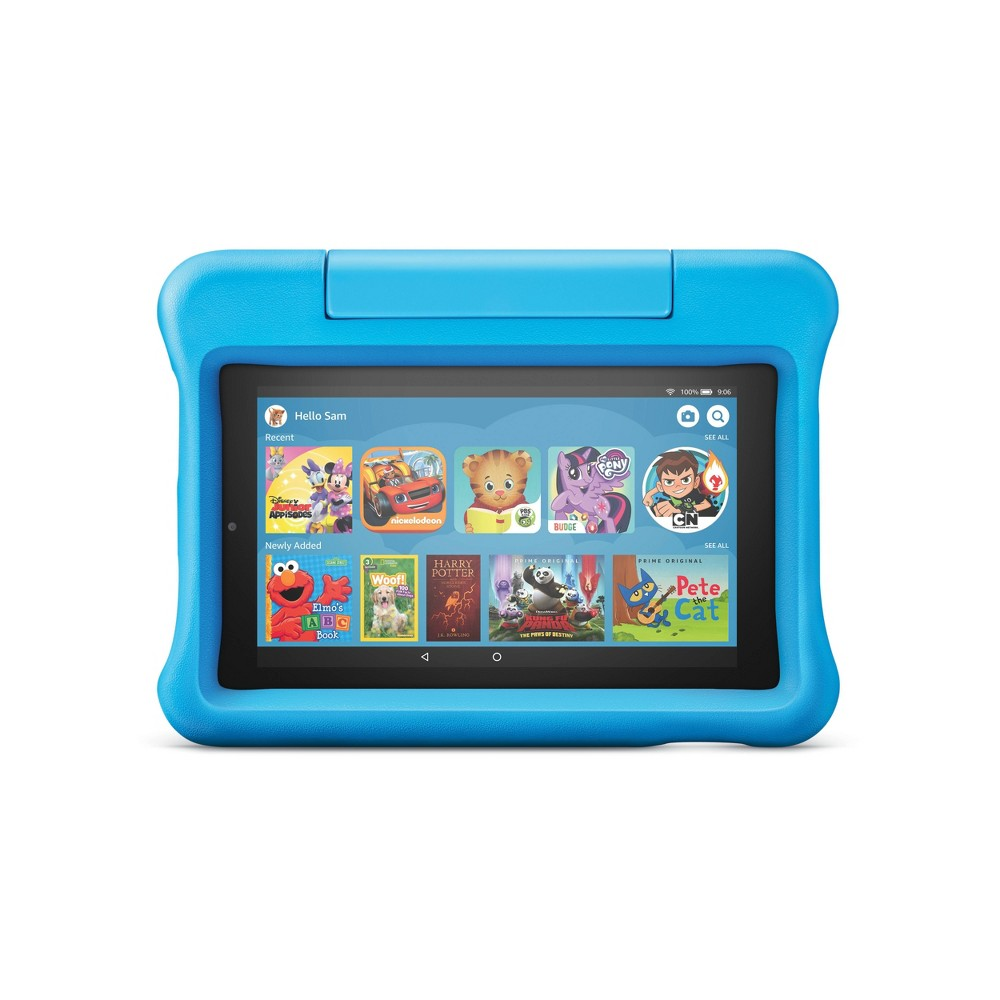 """Amazon Fire 7 Kids Edition Tablet 7"""" Display 16 GB Blue Kid-Proof Case"""