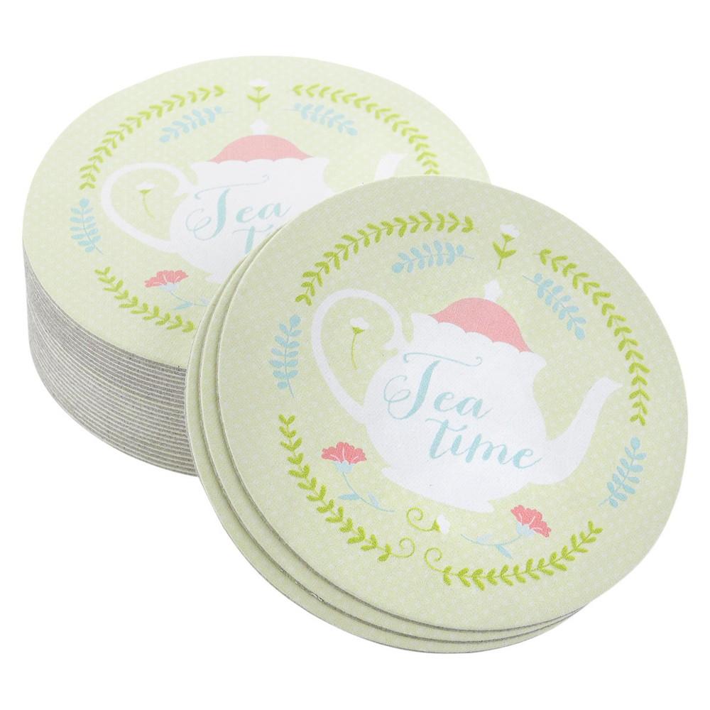 Image of 25ct Tea Time Coasters, Multi-Colored