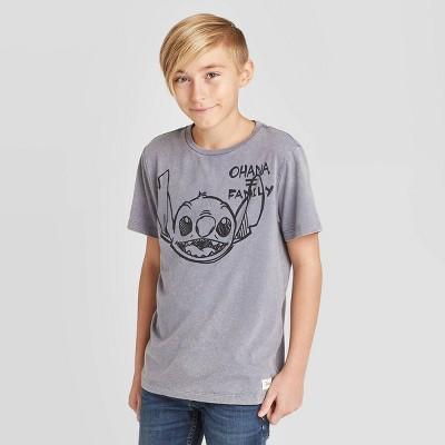 Disney Lilo and Stitch Pixel Dot Style Stitch Design Boys/' T-Shirt