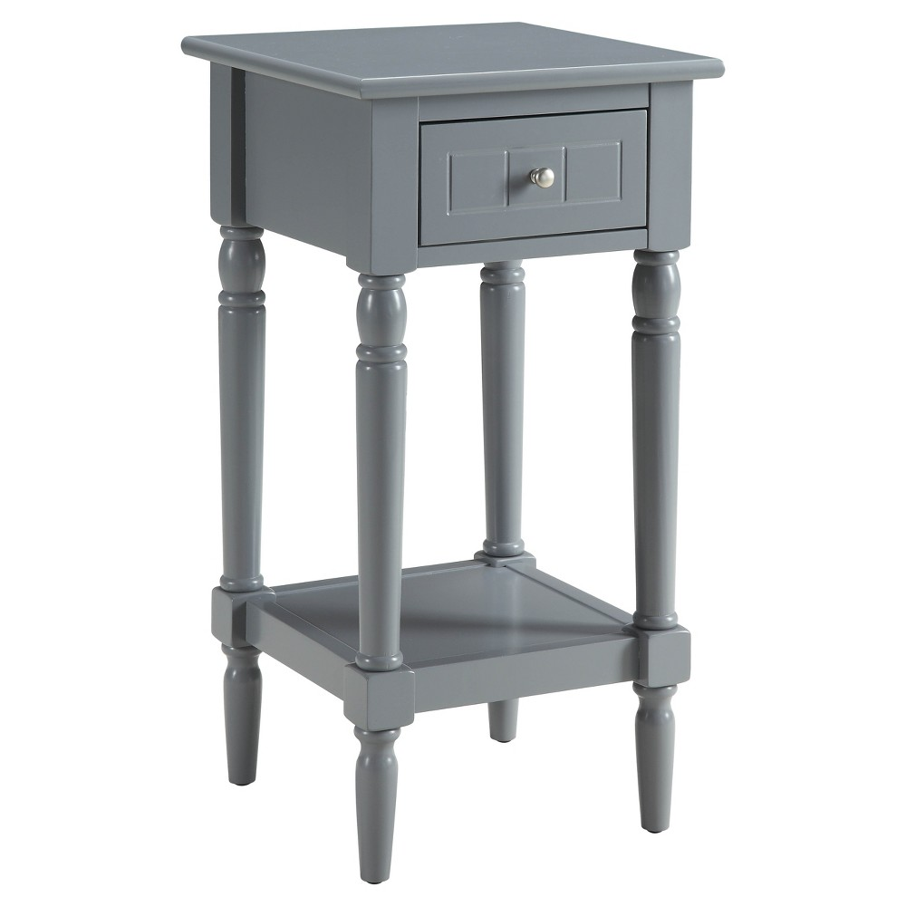 French Country Khloe Accent Table - Gray - Convenience Concepts
