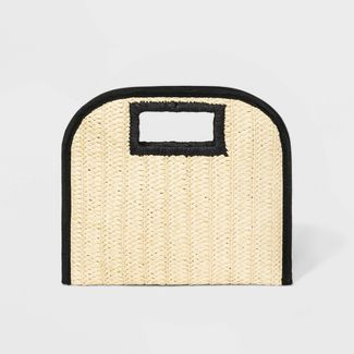 Cut Out Handle Straw Clutch - A New Day™ Natural