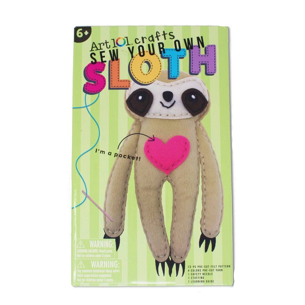 Image of Art 101 5pc Crafts Sew Your Own Sloth