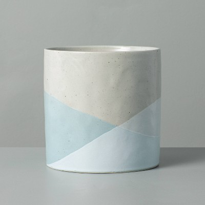 Dipped Stoneware Planter Light Blue/Gray - Hearth & Hand™ with Magnolia