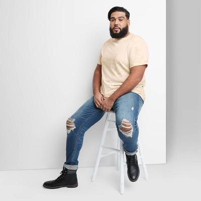 Men's Tie-Dye Regular Fit Short Sleeve Crewneck T-Shirt - Original Use™ Brown
