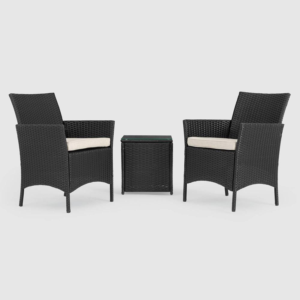 Silva 3pc Seating Set - Black - Sego Lily