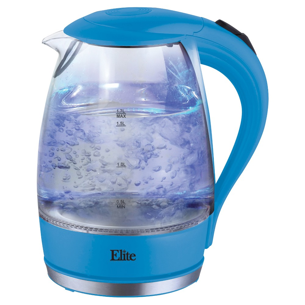 Elite Platinum 1.7 L. Cordless Glass Kettle – Blue, Antique Blue 49110434