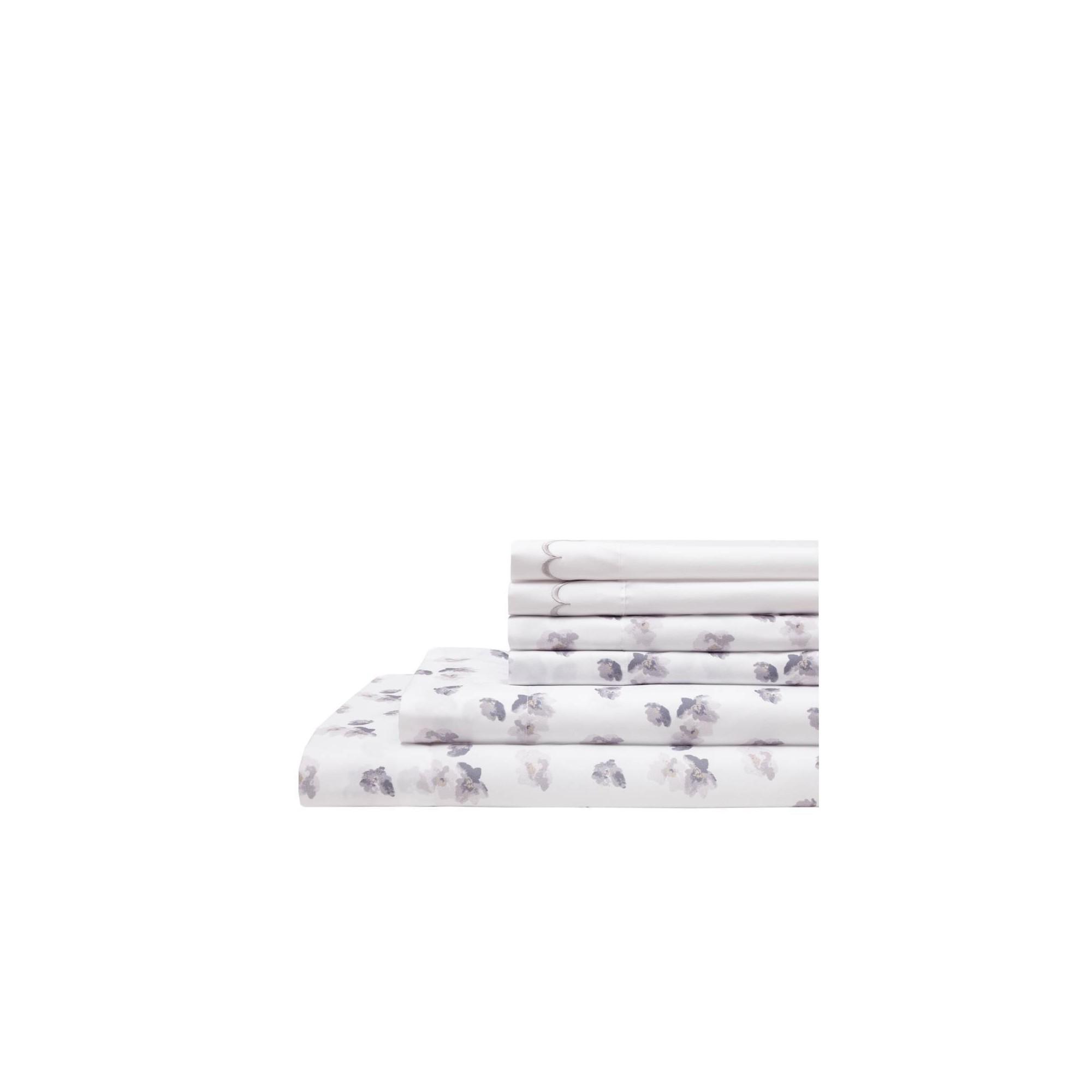 King 6pc Embroidered Microfiber Bonus Sheet Set Gray - Elite Home Products