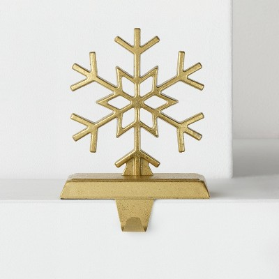 Geo Snowflake Christmas Stocking Holder Gold - Wondershop™