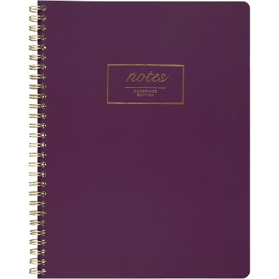 Cambridge Fashion Twinwire Business Notebook 9 1/2 x 7 1/4 Purple 80 Sheets 49556