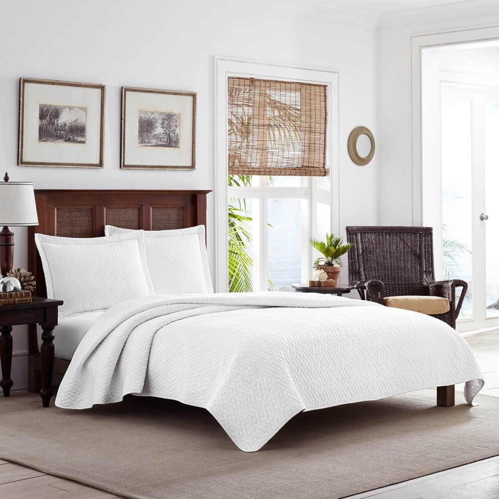 Twin Solid Quilt 38 Sham Set White Tommy Bahama