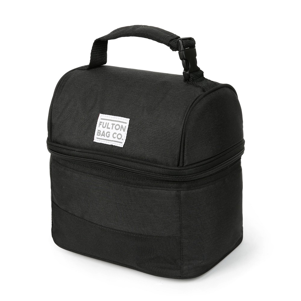 Image of Fulton Bag Co. Dual Compartment Lunch Bag - Black