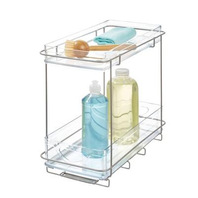iDESIGN Ariel Under the Cabinet 2-Tier Organizer Clear