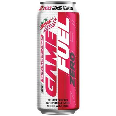Mountain Dew AMP Game Fuel ZERO Raspberry Lemonade - 16 fl oz Can