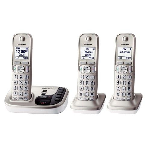 Panasonic DECT 6.0 Plus Cordless Phone System (KX-TGD223N) with Answering Machine - Silver - image 1 of 1