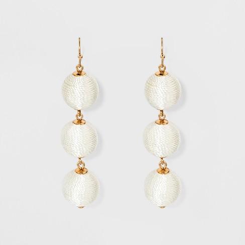 SUGARFIX by BaubleBar Triad Ball Drop Earrings - White - image 1 of 2