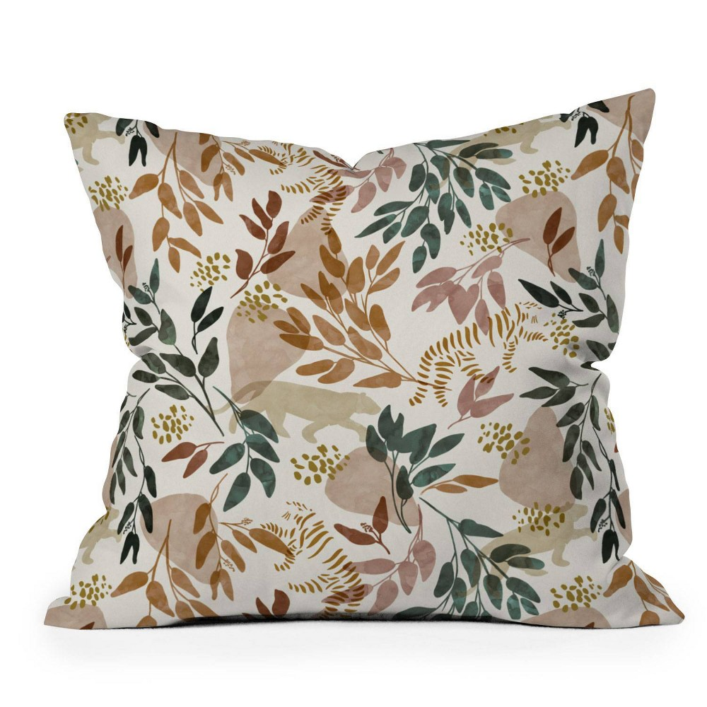 16 34 X16 34 Marta Barragan Camarasa Wild Land Square Throw Pillow Deny Designs