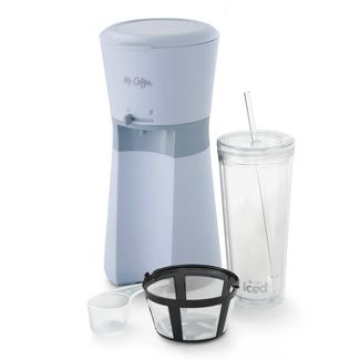 Mr. Coffee Iced Coffee Maker with Reusable Tumbler and Coffee Filter - Gray
