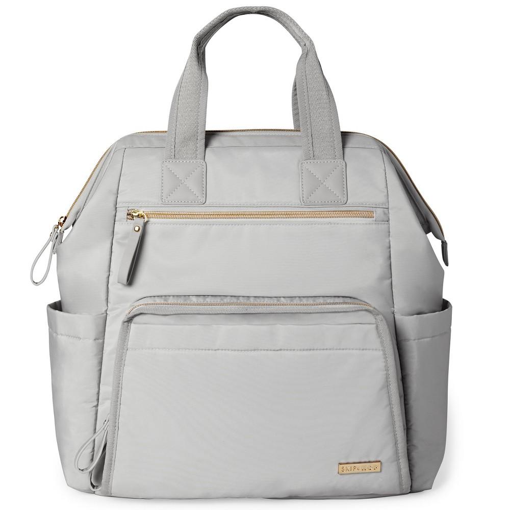 Skip Hop Mainframe Wide Open Diaper Backpack - Gray