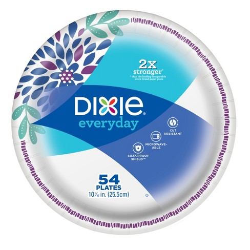 Dixie Everyday 10 1/16in Paper Plates - 54ct - image 1 of 4