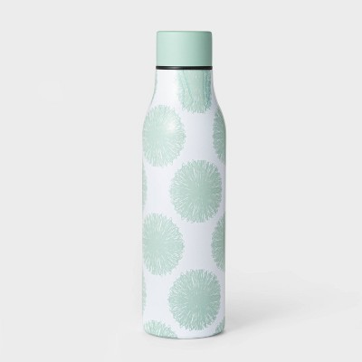 20oz Double Wall Stainless Steel Vacuum Water Bottle Pom Poms Mint - Room Essentials™