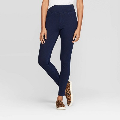 Women's High Waist Jeggings - A New Day™ Dark Blue