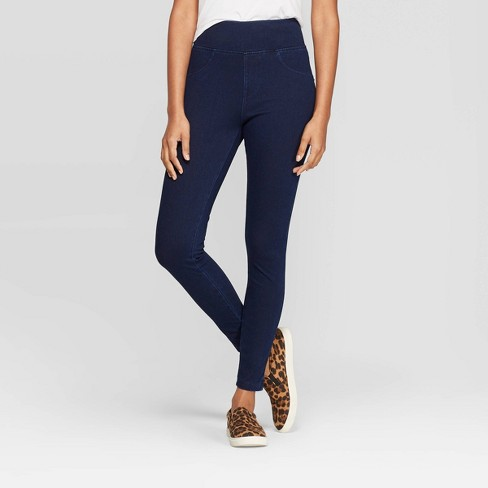 Women's High Waist Jeggings - A New Day™ Dark Blue - image 1 of 3